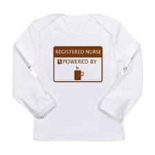 Registered Nurse Powered by Coffee Long Sleeve Inf
