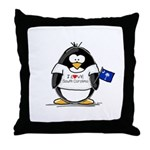 South Carolina Penguin Throw Pillow