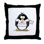 Rhode Island Penguin Throw Pillow