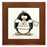 Rhode Island Penguin Framed Tile