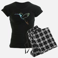 Blue and Green Patchwork Hummingbird pajamas