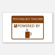 Psychology Teacher Powered by Coffee Decal
