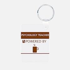 Psychology Teacher Powered by Coffee Aluminum Phot