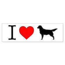 I love Golden Retrievers Bumper Sticker