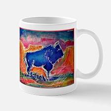 Buffalo, colorful, art! Mug