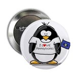 Pennsylvania Penguin Button