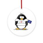 Pennsylvania Penguin Ornament (Round)