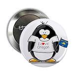 Oregon Penguin Button