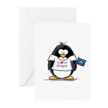 Oregon Penguin Greeting Cards (Pk of 10)