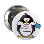 Oklahoma Penguin Button