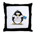 Oklahoma Penguin Throw Pillow
