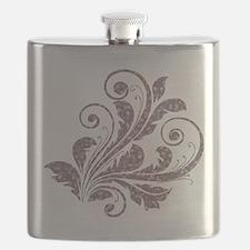 Artistic Floral Flask