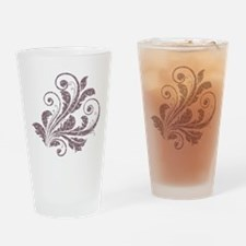 Artistic Floral Drinking Glass