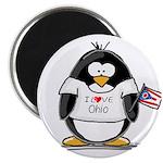 Ohio Penguin Magnet