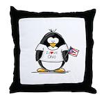 Ohio Penguin Throw Pillow