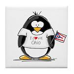 Ohio Penguin Tile Coaster