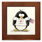 Ohio Penguin Framed Tile