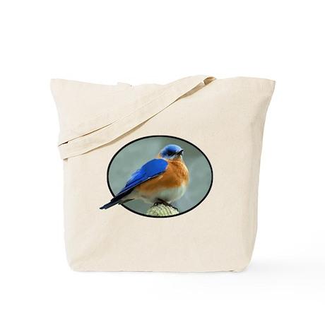 Bluebird in Oval Frame Tote Bag
