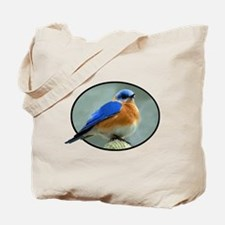 Bluebird in Oval Frame Tote Bag