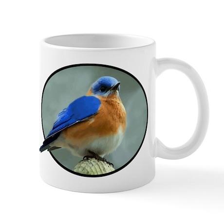 Bluebird in Oval Frame Mug