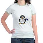 North Dakota Penguin Jr. Ringer T-Shirt