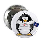 North Dakota Penguin Button