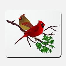 Cardinal Couple on a Branch Mousepad