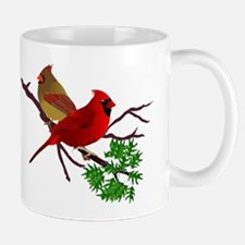 Cardinal Couple on a Branch Mug