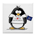 North Dakota Penguin Tile Coaster