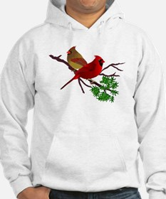 Cardinal Couple on a Branch Hoodie