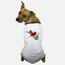 Cardinal Couple on a Branch Dog T-Shirt