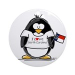 North Carolina Penguin Ornament (Round)