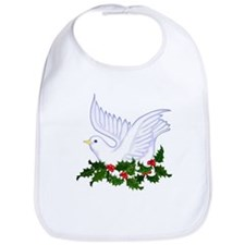 Christmas Dove of Peace with Holly Bib