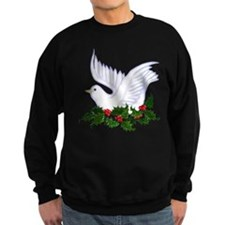 Christmas Dove of Peace with Holly Sweatshirt