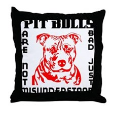 PIT BULLS ARE NOT BAD Throw Pillow