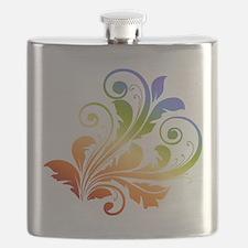 Rainbow Floral Flask