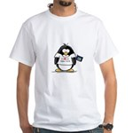 New York Penguin White T-Shirt
