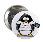 New York Penguin Button
