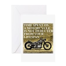 Time Spent On A Motorcycle Greeting Card