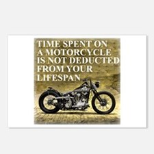Time Spent On A Motorcycle Postcards (Package of 8