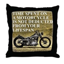 Time Spent On A Motorcycle Throw Pillow