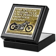 Time Spent On A Motorcycle Keepsake Box