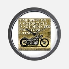 Time Spent On A Motorcycle Wall Clock