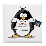 New York Penguin Tile Coaster