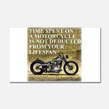 Time Spent On A Motorcycle Car Magnet 20 x 12