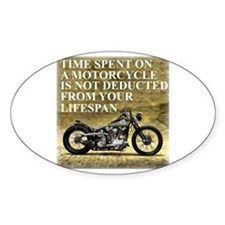 Time Spent On A Motorcycle Decal
