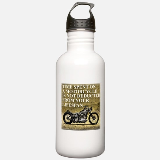 Time Spent On A Motorcycle Water Bottle