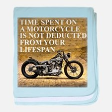 Time Spent On A Motorcycle baby blanket