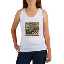 Time Spent On A Motorcycle Women's Tank Top