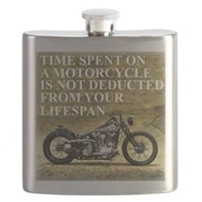 Time Spent On A Motorcycle Flask